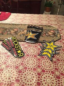 9 Mix Authentic Rockstar Energy Drink Stickers Decal Sign Logo Bmx Motocross