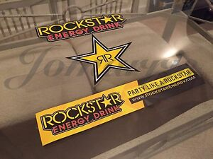3 Mix Authentic Rockstar Energy Drink Stickers Decal Sign Logo Bmx Motocross