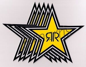 New 5 Rockstar Energy Star Decals Stickers Lot Official Authentic Merchandise