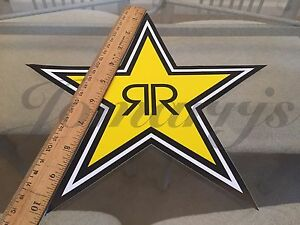 1 Medium 10 Authentic Rockstar Energy Drink Sticker Decal Sign Logo Bmx Race
