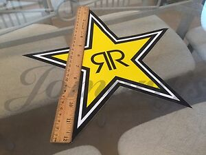1 Large 12 Authentic Rockstar Energy Drink Sticker Decal Sign Logo Moto Racing