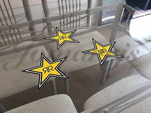 3 Authentic Rockstar Energy Drink Stickers Decal Sign Logo Bmx Motocross Racing