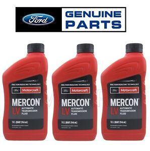 For Oem Ford 3 Quarts Mercon Lv Automatic Transmission Fluids Genuine Xt 10 Qlvc