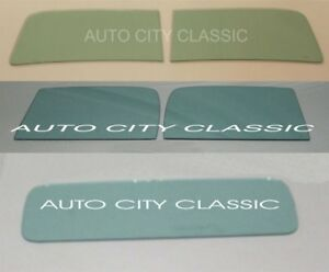 1941 Chevrolet Pickup Truck Glass 2 Pc Windshield Doors Back Green 41 Chevy