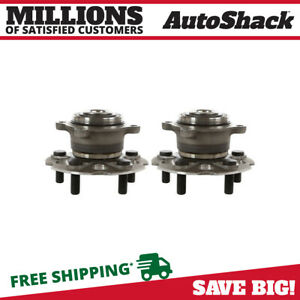 Rear Pair 2 Wheel Hub Bearing Assemblies 5 Stud Fits 05 2009 2010 Honda Odyssey