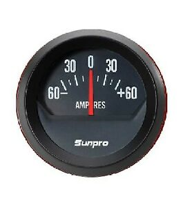 Sunpro 2 Inch Ammeter Black Black Bezel New Cp8214 Authorized Distributor