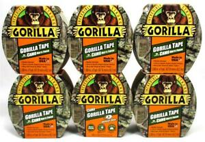 Lot Of 6 Gorilla Tough Camo Duct Tape Mossy Oak Matte Finish Weather Resistant