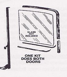 Ford Pickup Truck Deluxe Window Channel Kit 1956