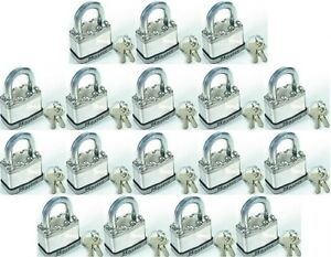 Lock Sey By Master M1ka lot Of 17 Keyed Alike Magnum Stainless Carbide