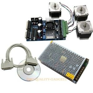 3axis Cnc Kit Tb6560 Driver Board 3x Nema 17 Stepper Motor 60 Oz in 12v10a Psu