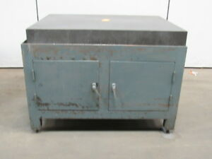 Challenge Granite Surface Plate 48 x36 x5 1 2 W 2 Door Stand