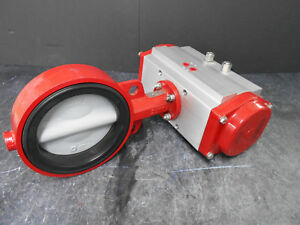 Bray Controls 92 1180 11300532 Pneumatic Actuator With 6 Butterfly Valve
