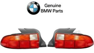 Bmw E36 Z3 M Roadster Pair Set Of 2 Tailights With Amber Turn Indicator Genuine