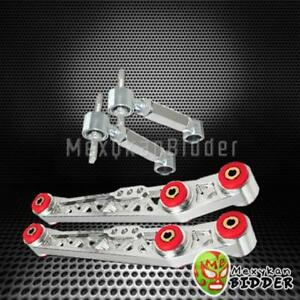 New Polished Rear Lower Control Arm Rear Camber Kit Civic 88 95 Integra 90 01