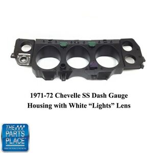 1970 72 Chevelle Ss New Dash Gauge Housing With Light Lenses For 1970