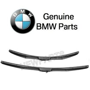 For Bmw F15 F16 F86 X5 X6 Front Windshield Window Wiper Blade Set Genuine