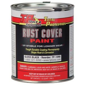 Tp Tools Rust Cover Paint Gloss Black Quart Made In Usa tp 1090