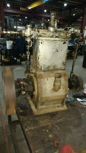 Antique Stationary Steam Engine Double Cylinder With Parts Engine
