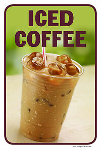 Iced Coffee 12 x18 Retail Convenience Store Counter Sign