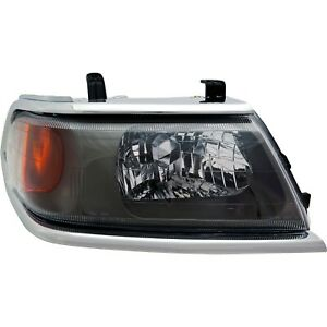 Headlight For 2000 2004 Mitsubishi Montero Sport Right With Chrome Trim