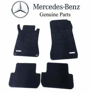 For Mercedes Benz Clk class Black Carpet Velour Floor Mats Genuine B66294117