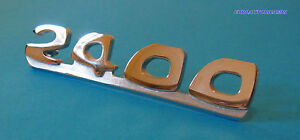 Fiat Dino 2400 Rear Script Badge Emblem New Original Rare