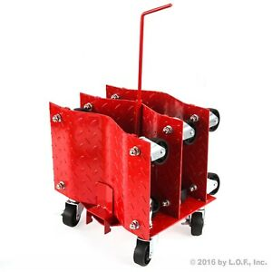 4 Auto Dolly Car Wheel Tire 12 X16 Skate 6000lb Slide New Red Rolling Rack