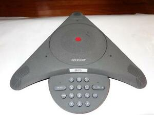 Polycom Soundstation Conference Phone W wall Module Exc Condition F7
