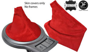 Red Suede Shift E Brake Boot For Scion Fr S Subaru Brz Toyota Gt86 2012 2017