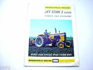 Minneapolis Moline Jet Star 3 Super Farm Tractor Brochure