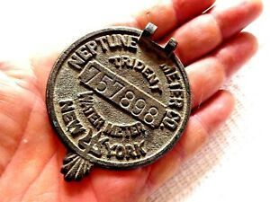 Vintage Metal Water Meter Cap New York Neptune Meter Co