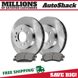 Front 2 Brake Rotors 4 Metallic Pads Fits 2005 2017 Chevrolet Silverado 1500