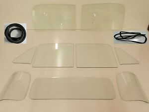 Clear Glass Chevy Pickup 1951 1952 1953 Windshield Vent Door 3pc Back Gskt W o