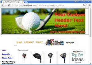 Turnkey Golf Store Website For Sale Free Bonuses Free Set Up plus Much More