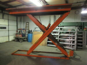Autoquip 5000lb Cap Hydraulic Scissor Lift Table 50x120 15 1 2 96 Height 460v