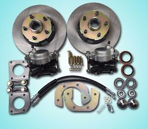 1964 1965 1966 Mustang Front Disc Brake Conversion Uses V 8 Drum Brake Spindles