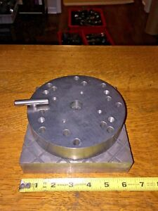 Edm Spinning Plate Fixture With Locking Pin Diameter 6 Plate 6 1 4 X 6 1 4