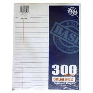 Norcom 78306 12 11 X 8 5 College Ruled Filler Paper 300 Count