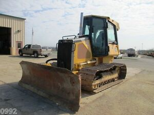 2008 John Deere 450j Lgp Crawler Dozer Cab Air U c Work Done Only 3008 Hours