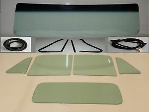 Green Glass 1954 Chevy Gmc Pickup Windshield Vent Door Back Seals W o Chrm Tape