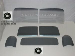 47 50 Chevy Gmc Pickup Glass Package Smoke Grey Gaskets Fit Without Trim