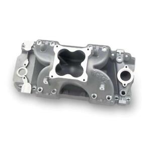 Holley Intake Manifold 9901 204 Satin Aluminum For Chevy 396 454 Bbc