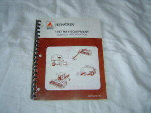 1997 Hesston Hay Equipment Service Information Manual 514 Baler 8400 Windrower