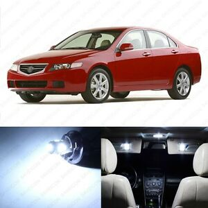 14 X White Led Interior Lights Package For 2004 2008 Acura Tsx Pry Tool