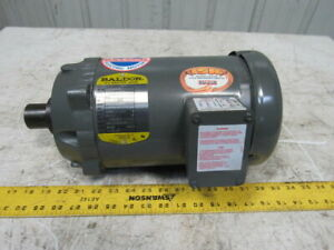 Baldor Mvm3555c 2hp 1 5kw 3450rpm 208 230 460v 60hz 1 Shaft Ac Motor