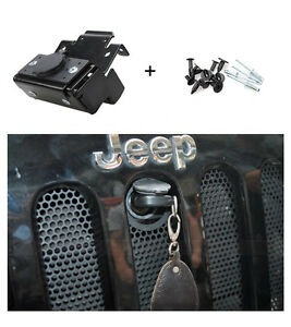 Hood Lock Assembly Anti theft Locking For Jeep Wrangler Jk Unlimited 2 4 Door