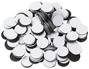 500 Pcs 1 60 Mil Magnetic Adhesive Circles Magnets Peel Stick Made In Usa