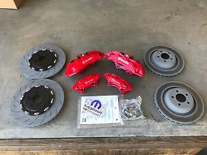 Challenger Charger Big Brake Kit Brembo 6 Pot Calipers Rotors Pads Front