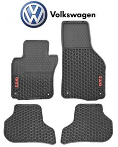 New For Vw Gti 06 12 Monster Rubber Gti Logo Set Of 4 Rubber Floor Mats Genuine
