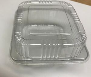 5 Clear Plastic Hinged Food Container For Salad Sandwich 100 Pack